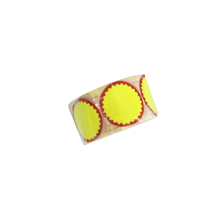 014358 pegatinas rebaja de precio en color amarillo ne n for Precio de papel vinilico