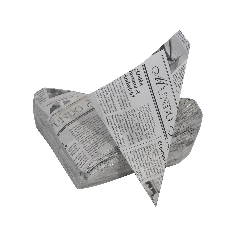 Conos de papel periódico